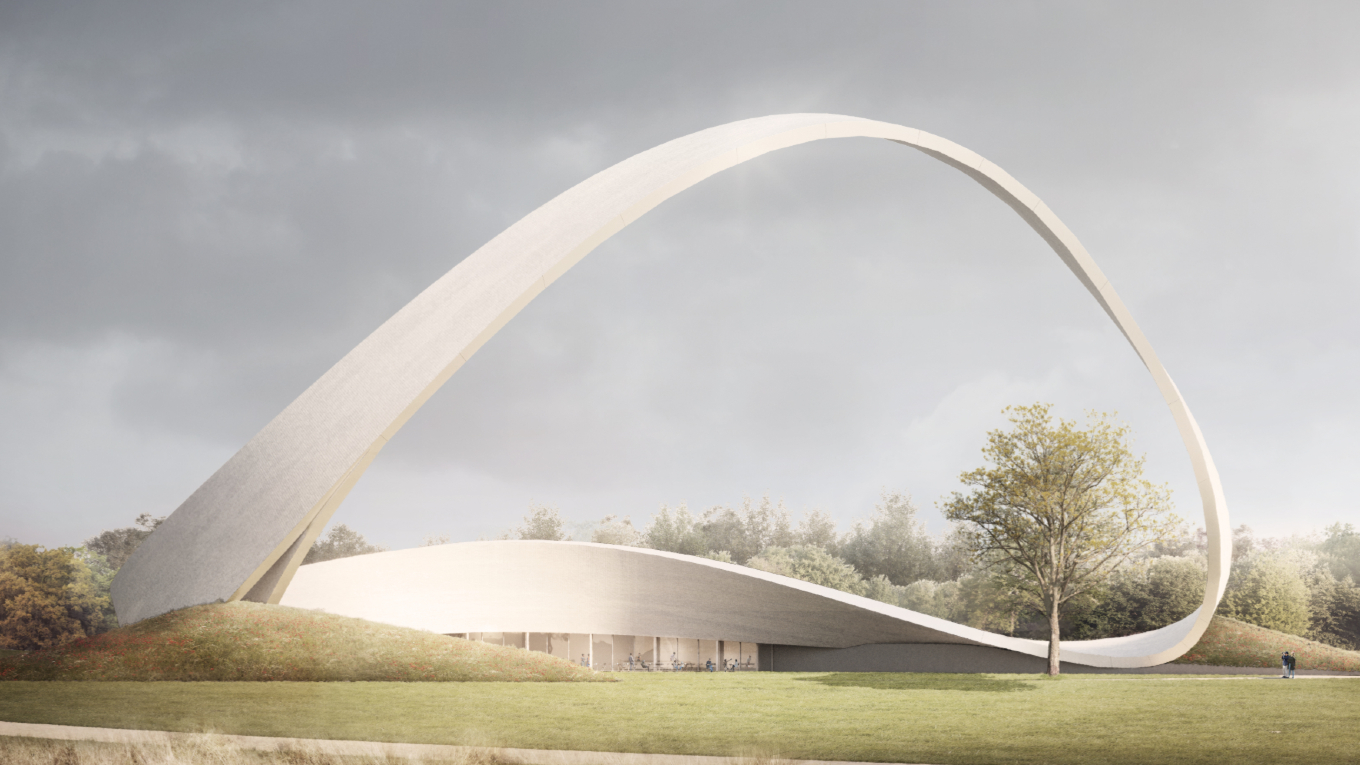The competition winning design for 'The Wall of Answered Prayer'. Image: Snug Architects