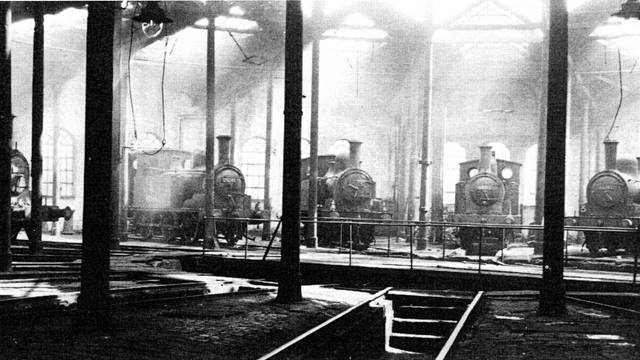Ramboll. Station pilots stabled in Roundhouse 3, York. Image: Bolger.