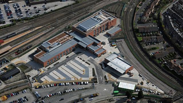 Ramboll. York Engineers' Triangle Rail Operating Centre, Aerial View. Image: Roger Pearson
