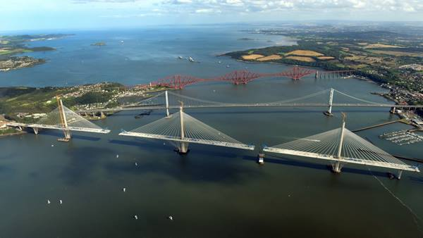 The Queensferry Crossing. October 2016. Image courtesy of Transport Scotland