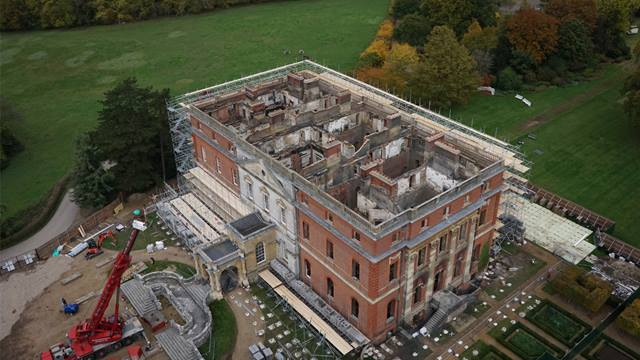 National Trust. Clandon Park Aerial View