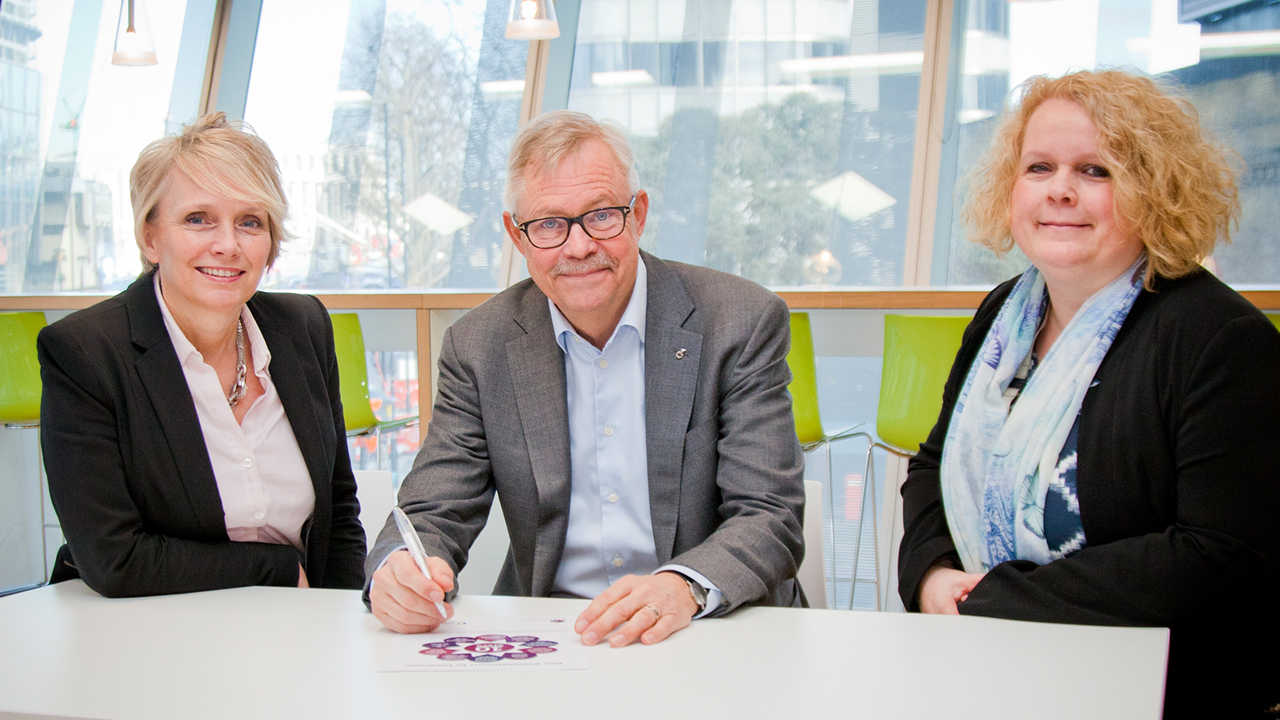Ramboll signs WISE Ten Steps Charter. Image: Clive Sherlock
