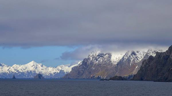 Looking towards South Georgia, with Bird Island in the foreground. Image: Pete Bucktrout, British Antarctic Survey