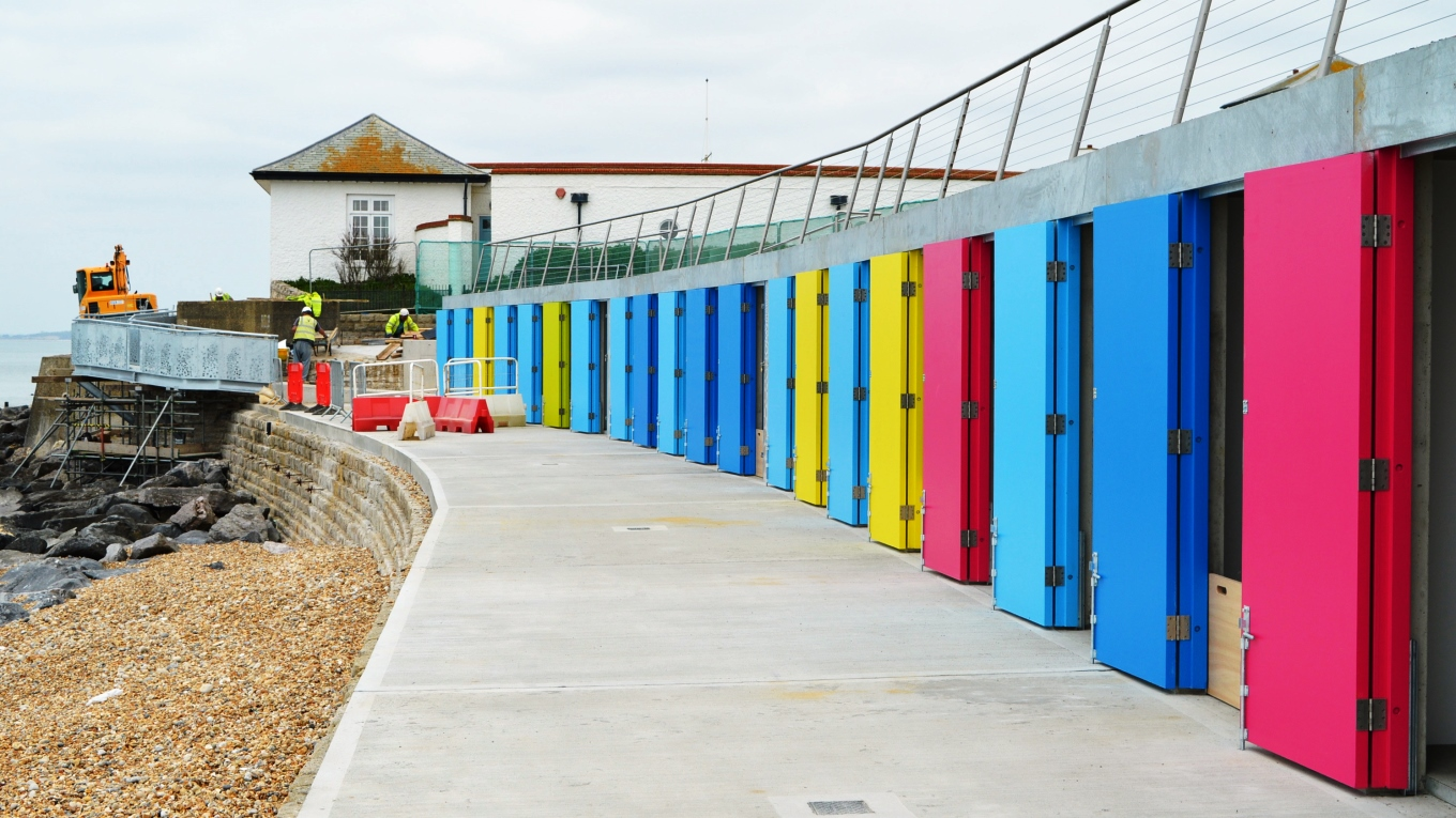 Ramboll's robust beach hut scheme will stand up to challenging coastal conditions. Photo courtesy Snug Architects