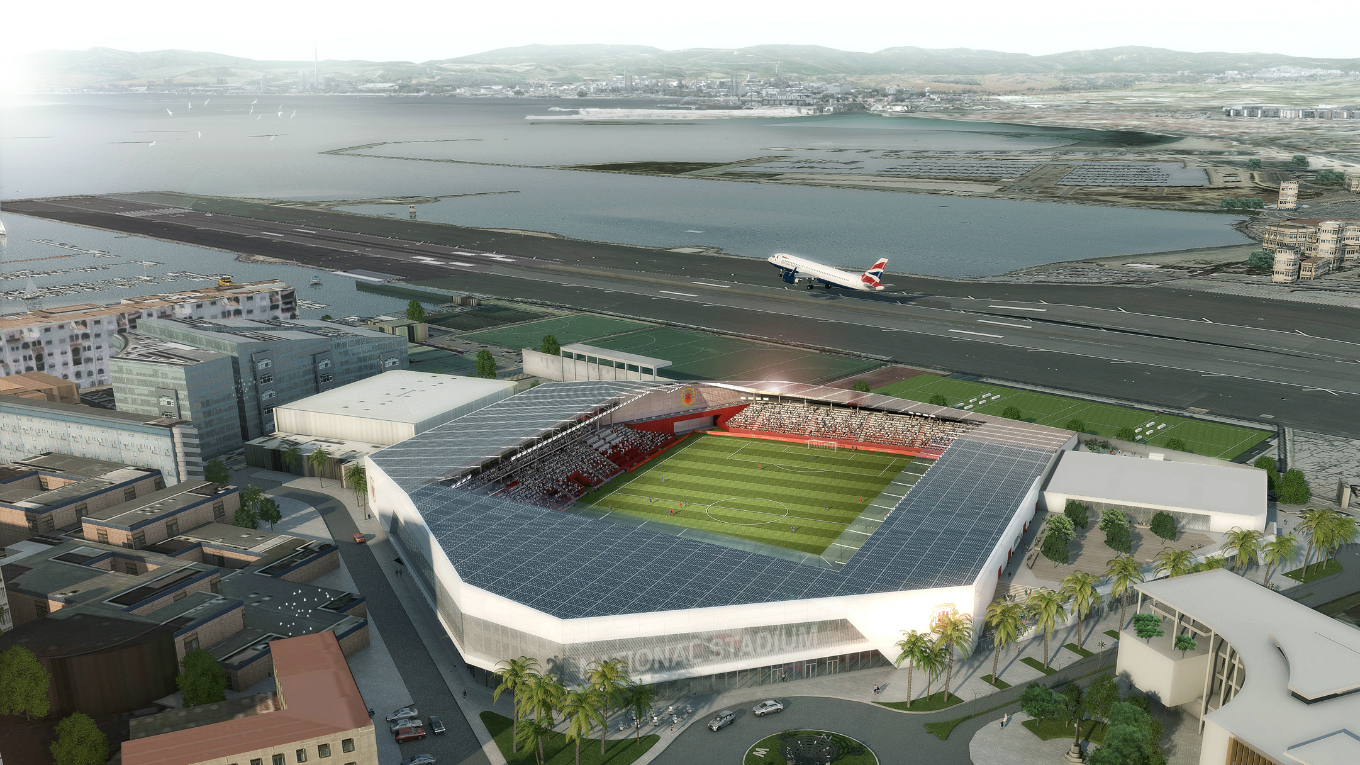 Planning application for Gibraltar National Stadium