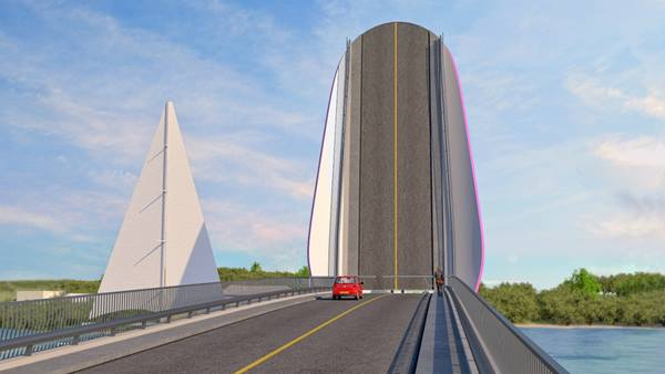 Proposed bascule bridge, Bermuda