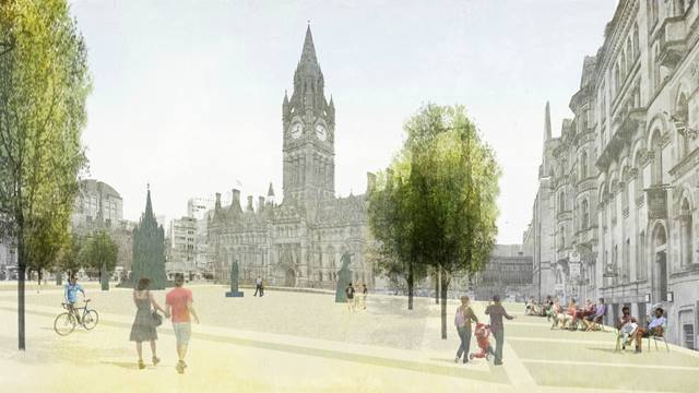 We are supporting the re-development of Albert Square in Manchester