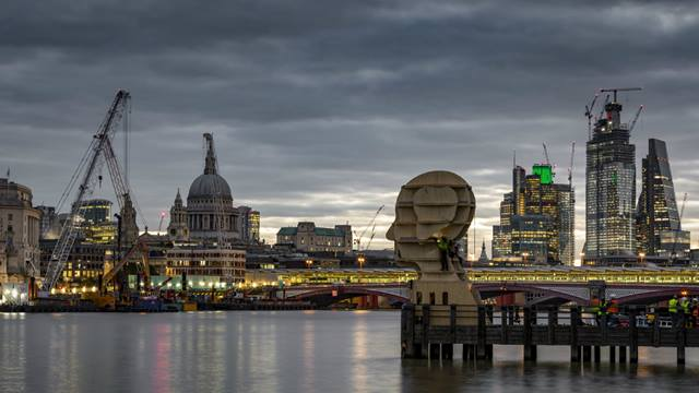 We provided pro-bono support to the popular Head Above Water installation in London - Image Daniel Shearing