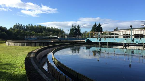 Stirling sewage works, source of heating for the Stirling community heat network - Image: Ramboll