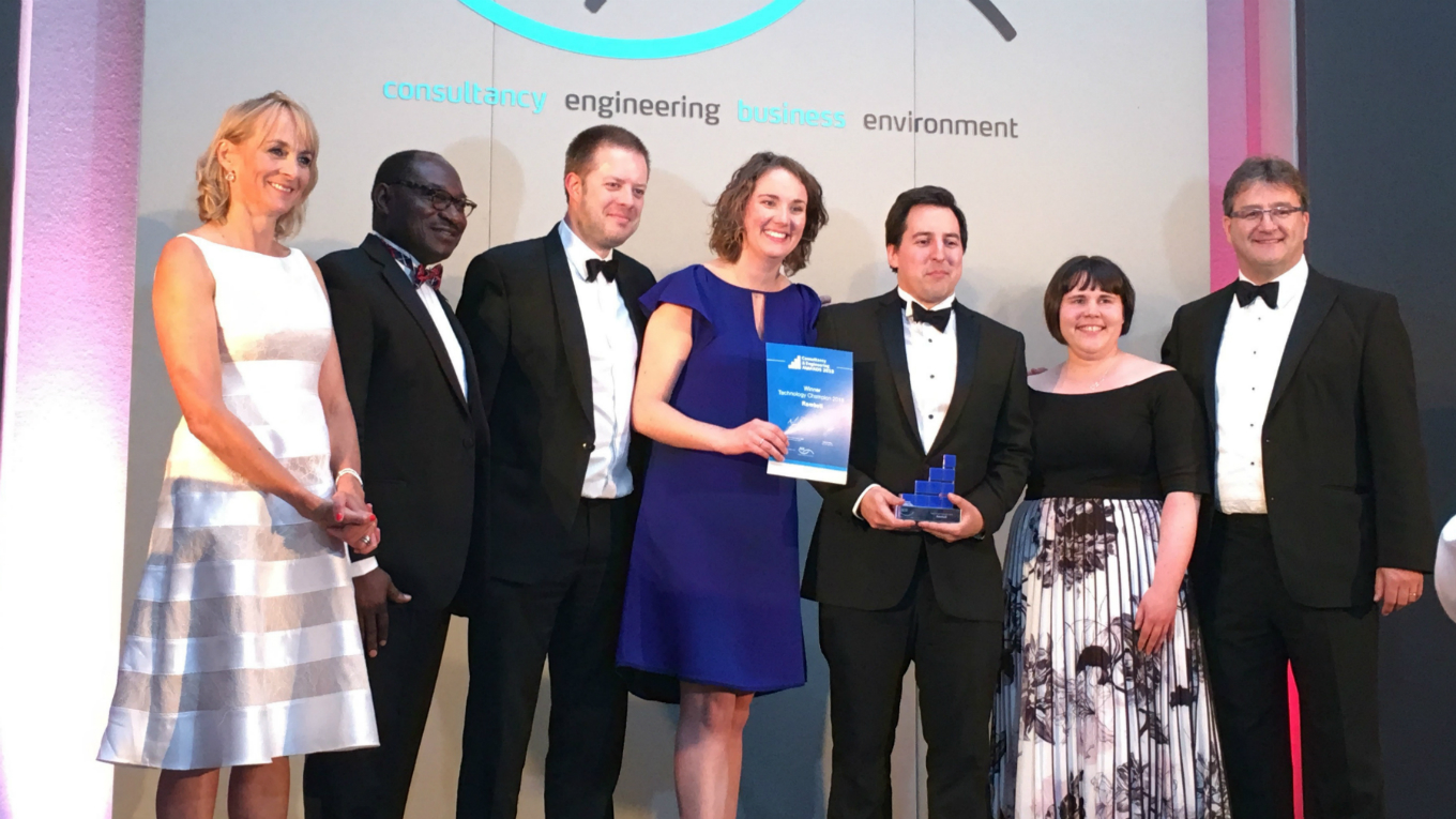 Ramboll team collect ACE Technology Champion of the Year 2018
