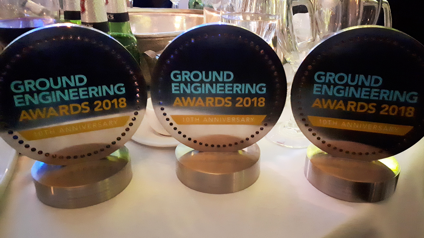 Three Ground Engineering award trophies won by Ramboll