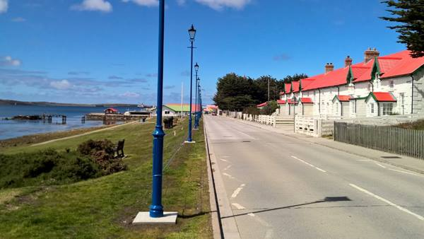View of Ross Road, Stanley Harbour, Falkland Islands. Photo taken by Gary Otter, Ramboll