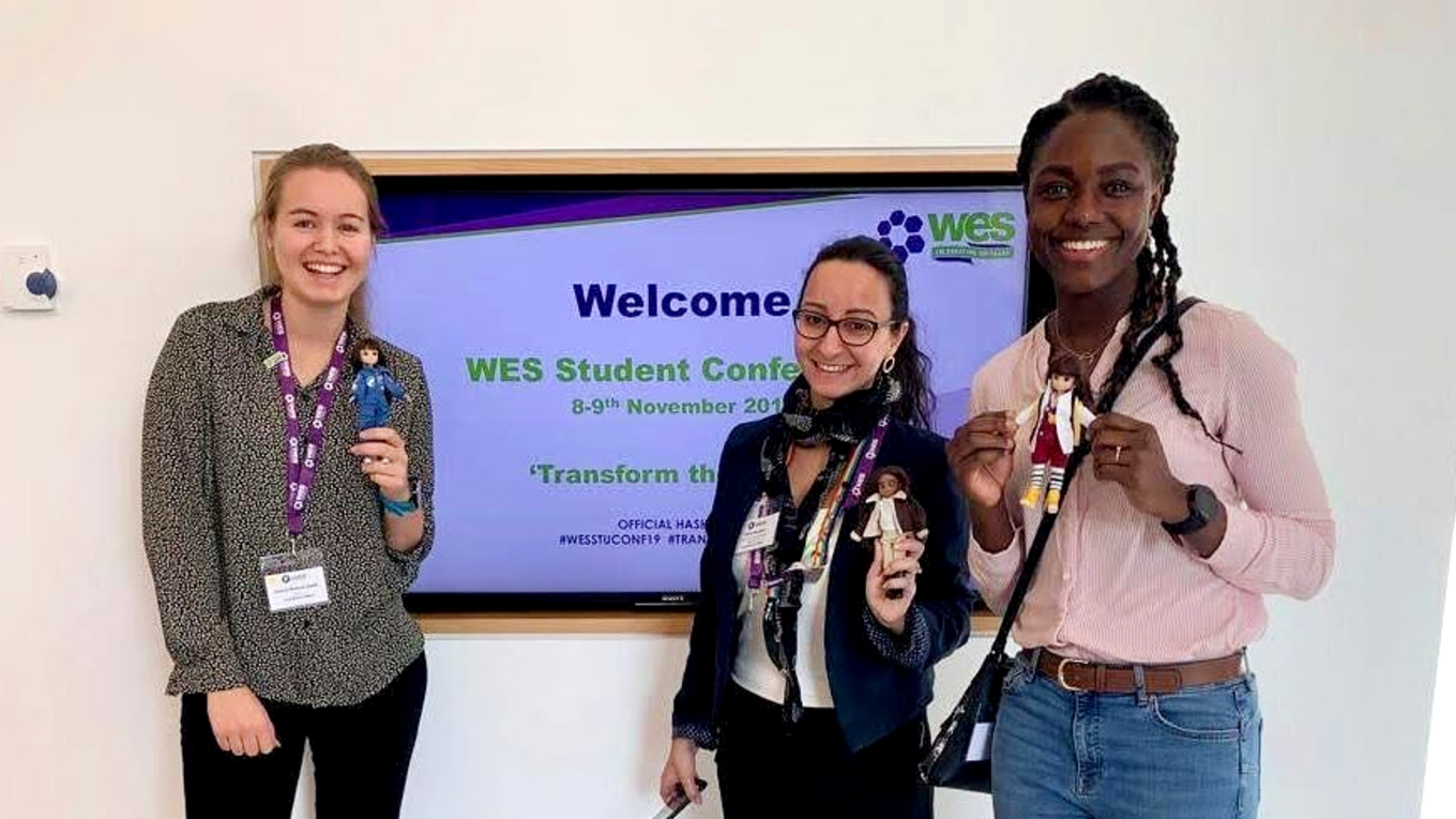 Ramboll's Sotira Georgiou (centre) at the WES student conference in November