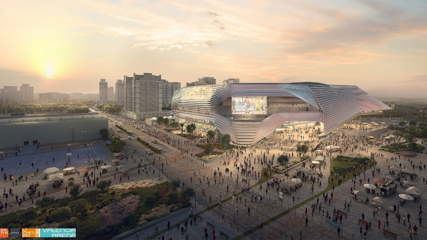 Valencia Arena - Image: Courtesy of HOK Architects