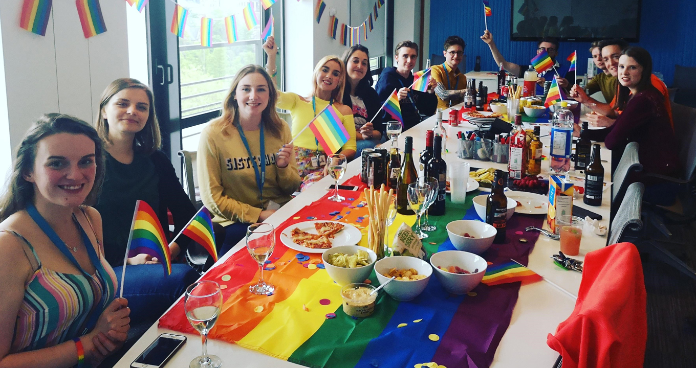 Ramboll's Edinburgh office celebrate Ramboll Pride with an office social