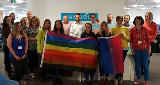 Ramboll's Leeds office gather together to celebrate Ramboll Pride