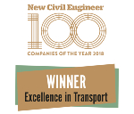 Logo: NCE100- Excellence in Transport