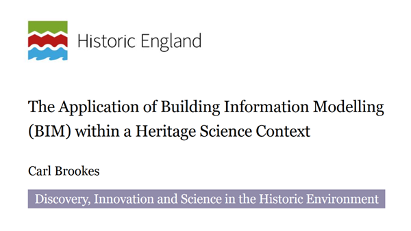 Cover image for technical paper: Application of BIM within a Heritage Science Context. Ramboll