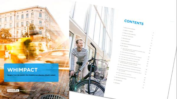 Whimpact report on mobility trends based on the world's first Mobility-as-a-Service (MaaS) system. Ramboll