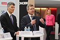 Mayor of Vancouver, Gregor Robertson and Frank Jensen, Lord Mayor of Copenhagen at COP21, the Danish Pavilion, launching the new City Solutions Platform