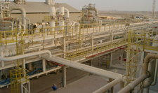 Onshore stripping plant