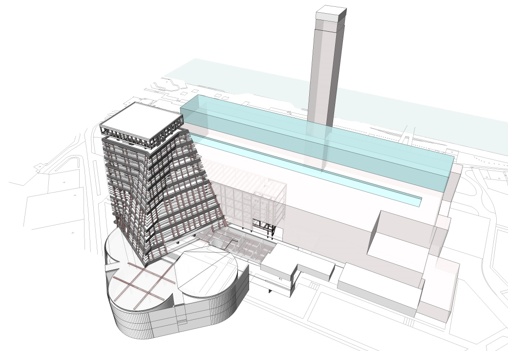 Tate modern extension tying the buildings together for Tate modern building design